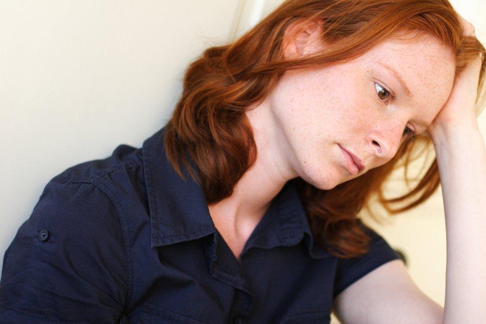 Woman struggle with Depression